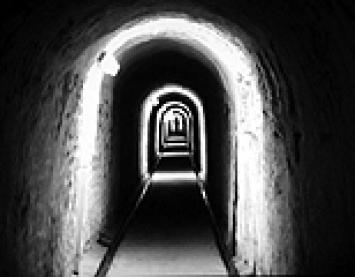 Pascal Robert · Tunnel (détail de la projection vidéo), 2003