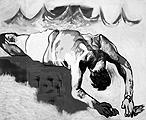 Martin Kippenberger · Ohne Titel (Selbstporträt aus der Medusa-Serie), 1996, Öl auf Leinwand, 100 x 120 cm, Nachlass Martin Kippenberger, Köln