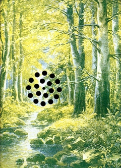 Pieter Laurens Mol · Drainage d'images, Fotografische Farbkopie auf Karton mit Stanzlöchern, 1994, 29,7 x 21,1 cm, Edition von 15, Foto: Peter Cox, Eindhoven