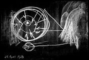Rudolf Steiner · Je weiter sich der Mensch von der Erde entfernt, 20.4.1923, 90 x 140 cm, © by Rudolf Steiner Nachlassverwaltung, Dornach Schweiz