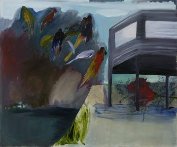 Oel auf Leinwand, 135 x 200cm, Kunsthaus Glarus 2006-Fokuspreis