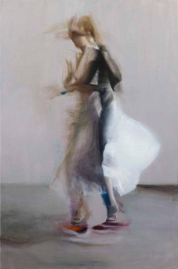 Andrea Muheim «Abre que voy», 2018,Öl und Acryl auf Leinwand, 150 x 100 cm