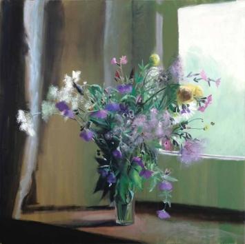 Andrea Muheim, «Ein Traum», 2019,Öl und Acryl auf Leinwand, 150 x 150 cm