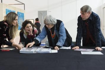 ‹Portfolioviewing› Shedhalle,Kunst: Szene Zürich 2018.Foto:Dominik Zietlow
