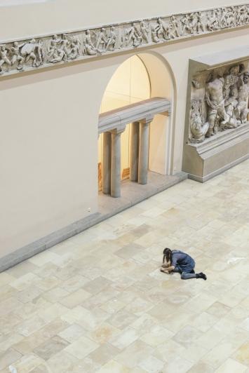 Universität Zürich,Ausstellungsvorbereitungen Nadja Ullmann,Foto: Dominik Zietlow