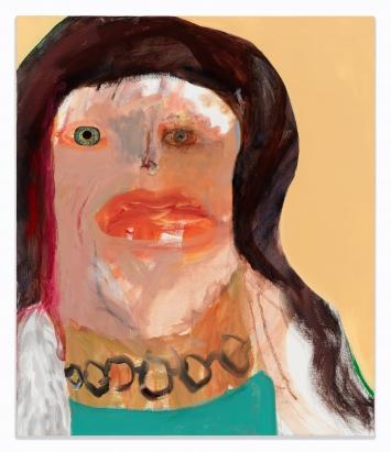 Margot Bergman (*1934), Monica,2018, Acryl auf Leinwand, 102 x 86 cm, Museum Langmatt, Baden