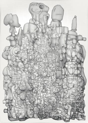 Paul Noble · Volume 3, 2006–2007, Bleistift auf Papier, Courtesy Gagosian Gallery