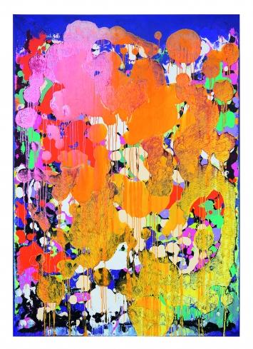 Gib mir mehr 02, 2019, Mixed Media auf Leinwand, 300x230cm, Courtesy Galeria Filomena Soares, Lissabon/Portugal.Foto: Frank Wurzer