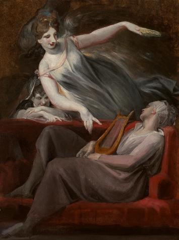 Johann Heinrich Füssli · Die Vision des Dichters, 1806/07, Öl auf Leinwand, 61,5x46cm, Stiftung für Kunst, Kultur und Geschichte.Foto: Philipp Hitz/SIK-ISEA