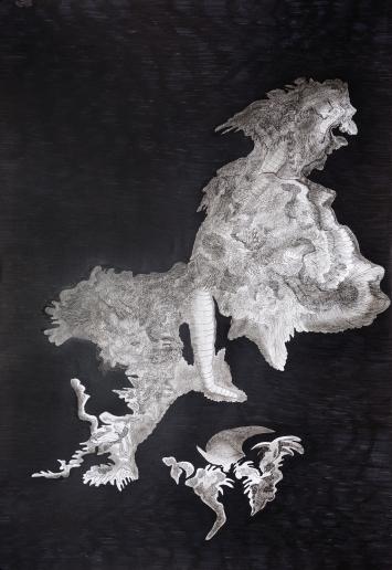 Filzstift auf Papier, 100 x 70cm