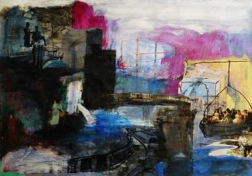 Colllage auf Papier, 2008, 70x100cm