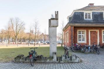 Richard Artschwager, Ohne Titel (Fahrradständermonument B), 1987, Skulptur Projekte in Münster 1987, Foto: LWL/Hanna Neander 2016