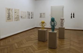 Ausstellungsansicht, Werkgruppe von Selina Baumann in der Ausstellung «Linck. Reloaded»