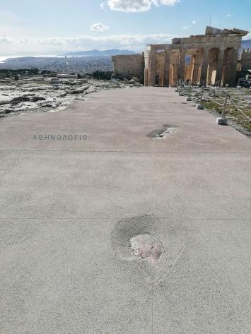 Akropolis,Wassersammelstellen, 2020/2021.Foto:Tasos Tanoulas