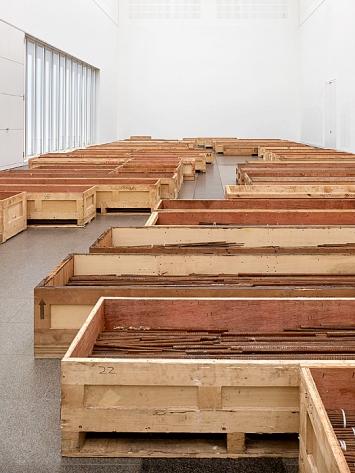 Ai Weiwei · Straight, Installationsansicht Kunstsammlung Nordrhein-Westfalen, K20, 2019.Foto: Achim Kukulies