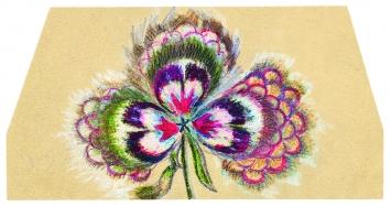 Albert W. (1888–?) · ohne Titel, Stiefmütterchen, undatiert, Farbstift auf Papier, 7,5x15cm, Sammlung Wil StASG A 541/1.2.7333
