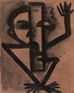 Andreas Walser,ohne Titel (Männliche Figur mit Opiumpfeife), 1929© Privatbesitz