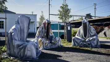 Manfred Kielnhofer,Guardians of Time,220x220x220cm, polyester, street art mural painting, 2015,Foto:Manfred Kielnhofer