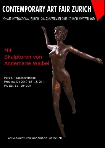 """""""Luft"""" Skulptur von Annemarie Waibel an der Swissartexpo Zürich. Weitere Skulpturen unter www.skulpturen-annemarie-waibel.ch"""