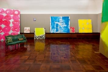 Ausstellungsansicht, Renée Levi – Rhabarber, Galerie
