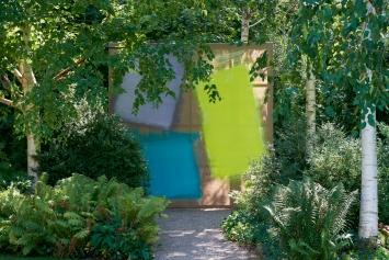 Ausstellungsansicht,Renée Levi – Rhabarber, Park