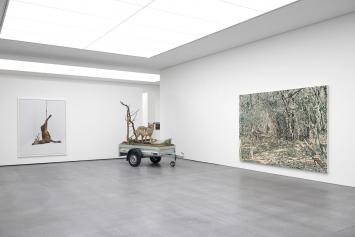 Éric Poitevin, Ohne Titel, 2005Mark Dion, Mobile Wilderness Unit, 2009Franz Gertsch, Waldweg (Campiglia Martittima), 2013/2014