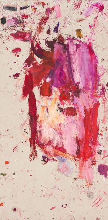Martha Jungwirth · The Big Chinese, 2020, Öl auf Papier auf Leinwand, 203x100cm ©ProLitteris