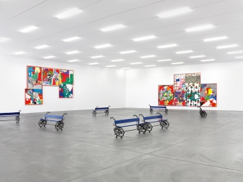 Ida Ekblad · Fra Åre Til Ovn, 2019, Courtesy Kunsthalle Zürich ©ProLitteris.Foto: Annik Wetter