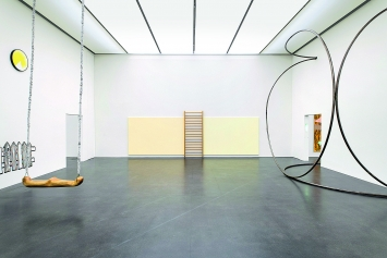 Claudia Comte, John M. Armleder und Christoph Rütimann · Ausstellungsansicht Kunstmuseum Luzern, 2019.Foto: Marc Latzel