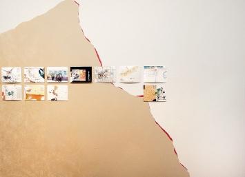Esther Ernst · Cairo Notes, 2018, 80 Zeichnungen auf Wandzeichnung (Masse variabel).Foto: Rolf Bismarck
