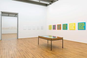 Rémy Zaugg · Schau, ich bin blind, schau, Ausstellungsansicht Kunstmuseum Basel, 2019