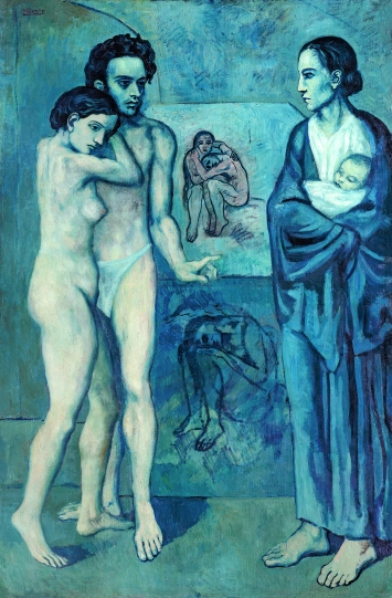 Pablo Picasso · La Vie, 1903, Öl auf Leinwand, 197 x 127,3 cm, The Cleveland Museum of Art, Schenkung Hanna Fund © ProLitteris. Foto: The Cleveland Museum of Art