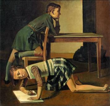 Balthus · Les enfants Blanchard, 1937, Öl auf Leinwand, 125x130cm, Courtesy RMN-Grand Palais / Musée national Picasso-Paris, Schenkung der Erben Picassos, 1973/1978.Foto: Mathieu Rabeau