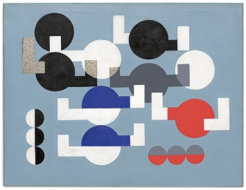 Sophie Taeuber-Arp · Composition, 1930, Öl auf Leinwand, 49,5 x 64,1 cm, The Museum of Modern Art, New York, The Riklis Collection of McCrory Corporation