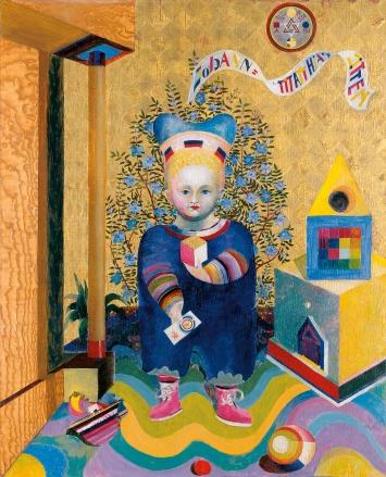 Johannes Itten · Kinderbild, 1921/22, Öl auf Holz, 110x90 cm, Kunsthaus Zürich ©Pro Litteris. Foto: Kunsthaus Zürich