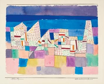 Paul Klee · Côte de Provence 1, 1927, Aquarell auf Papier, Karton, 15,1x23,5cm, Zentrum Paul Klee
