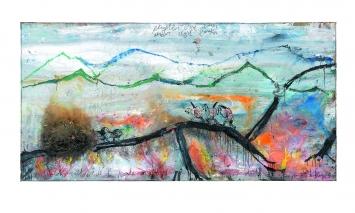 Philippe Vandenberg · Zu lieben heisst zu geisseln, 1981–1998, Öl und Kohle auf Leinwand, 152x302cm, Courtesy Hauser & Wirth ©ProLitteris.Foto: Joke Floreal und Guillaume Vandenberghe