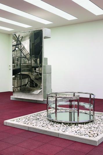 Tobias Nussbaumer · Die Ordnung des verlorenen Raums, 2018, Ausstellungsansicht Museum Franz Gertsch.Foto: Bernhard Strahm