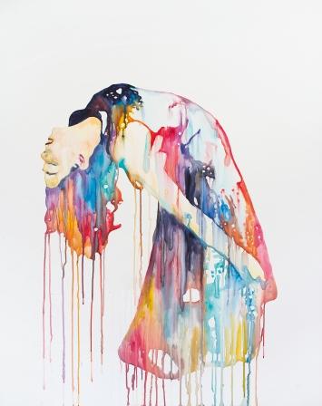 Ulla von Brandenburg · Mary, 2018, Wasserfarbe auf Gesso auf Holz, 139,8x110cm, Sammlung Baloise Group, Courtesy Pilar Corrias Gallery.Foto: Andrea Rossetti