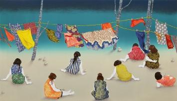 Chika Osaka · Happy Forever, 2016, Lithografie, Ed. 20 + 1 AP, 40x69,5cm, Courtesy Gallery MoMo