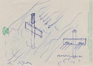 Roman Signer, Skizze zu einer Wasserbeobachtung, 1970er-Jahre