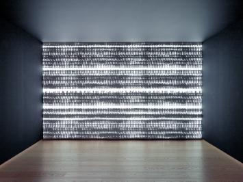 Michal Rovner · Mechanism 2018, Videoprojektion, Pace Gallery Genf ©ProLitteris.Foto: Annik Wetter