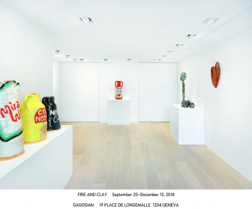 Fire & Clay, Gagosian Gallery Geneva, 2018 (Ausstellungsansicht).Foto: Annik Wetter