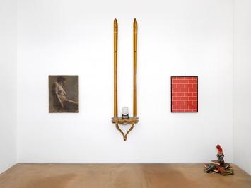 Présence Panchounette · Sans titre, 1969; Shining, 1983; Sans titre, 1978; La Tour de Babil, 1985, Sammlung MAMCO.Foto: Annik Wetter