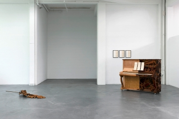 Thu Van Tran · Novel Without a Title #5, 2019; Arirang partition, 2016. Ausstellungsansicht Kunsthaus Baselland.Foto: Gina Folly