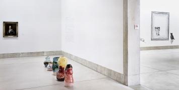 Claudia und Julia Müller · Der weiche Blick, 2019, Ausstellungsansichten MBA La Chaux-de-Fonds. Foto: Aline Henchoz