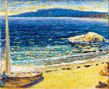 Pierre Bonnard · Marine, gegen 1910, Öl auf Leinwand, 49,5x61,2cm, Courtesy RMN-Grand Palais, Fondation Bemberg Toulouse.Foto: Mathieu Rabeau