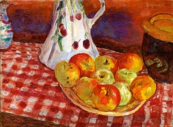 Pierre Bonnard · Les pommes jaunes et rouges, 1920, Öl auf Leinwand, 34x46cm, Toulouse, Courtesy RMN-Grand Palais, Fondation Bemberg Toulouse.Foto: Mathieu Rabeau