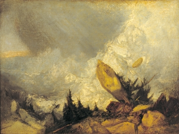 William Turner · Lawinenniedergang in Graubünden, ca. 1810, Öl auf Leinwand, 135 x 166 cm, Courtesy Tate London