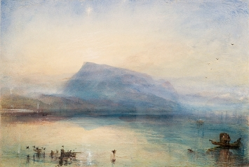 William Turner · Die blaue Rigi, 1842, Aquarell auf Papier, 22,8 x 21,5 cm, Courtesy Tate London